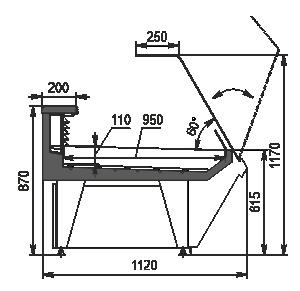 Kühlvitrinen Missouri enigma MK 120 fish OS 120-SPLM/SPLA