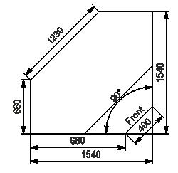 Vitrinen Missouri enigma NC 122 cash desk 084-IR90