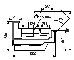 Теплова вітрина Missouri enigma NC 122 heat BM OS 115
