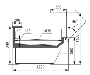 Вітрина Missouri enigma NC 122 ice OS 115