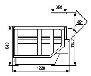 Вітрина Мissouri enigma NC 122 OS 115