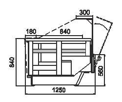 Kühlvitrinen Missouri enigma NC 125 heat HT OS 120