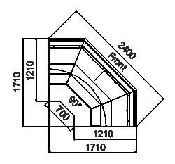 Kühlvitrinen Missouri enigma MC 125 cascade self 126-DLM-ES90