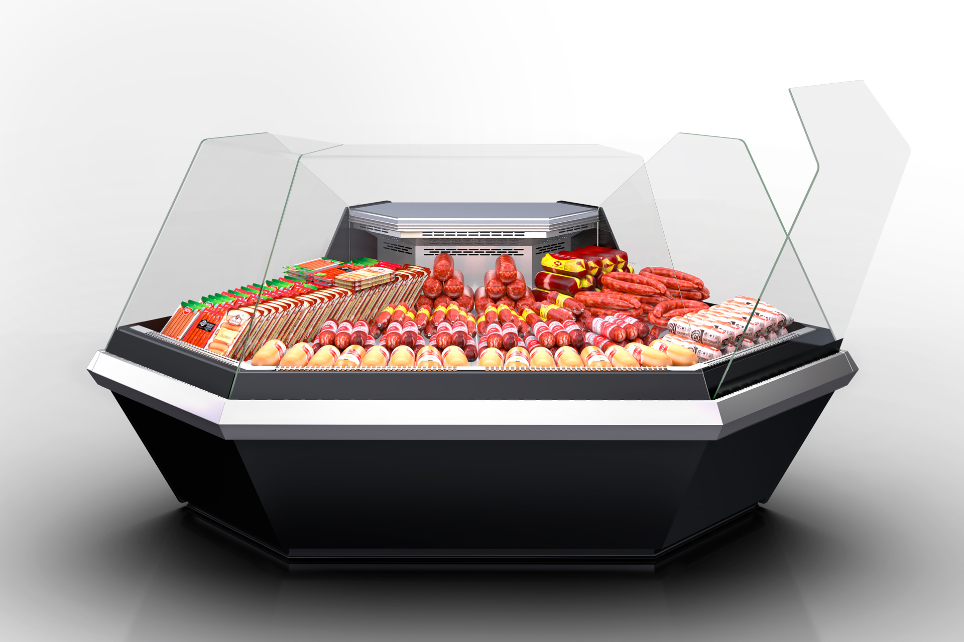Angular elements of refrigerated counters Missouri enigma MK 120 deli OS 120-DLM-ES90