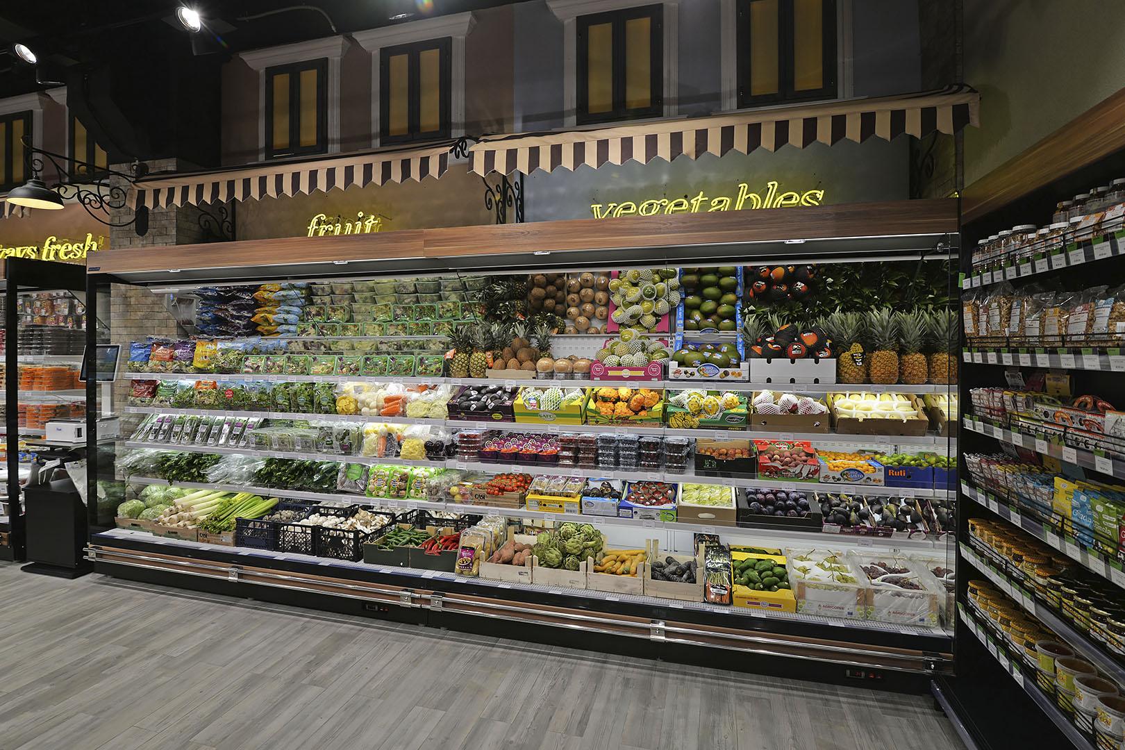 Специализированные витрины для продажи овощей и фруктов Louisiana FV MV 105 VF О 225-DLM