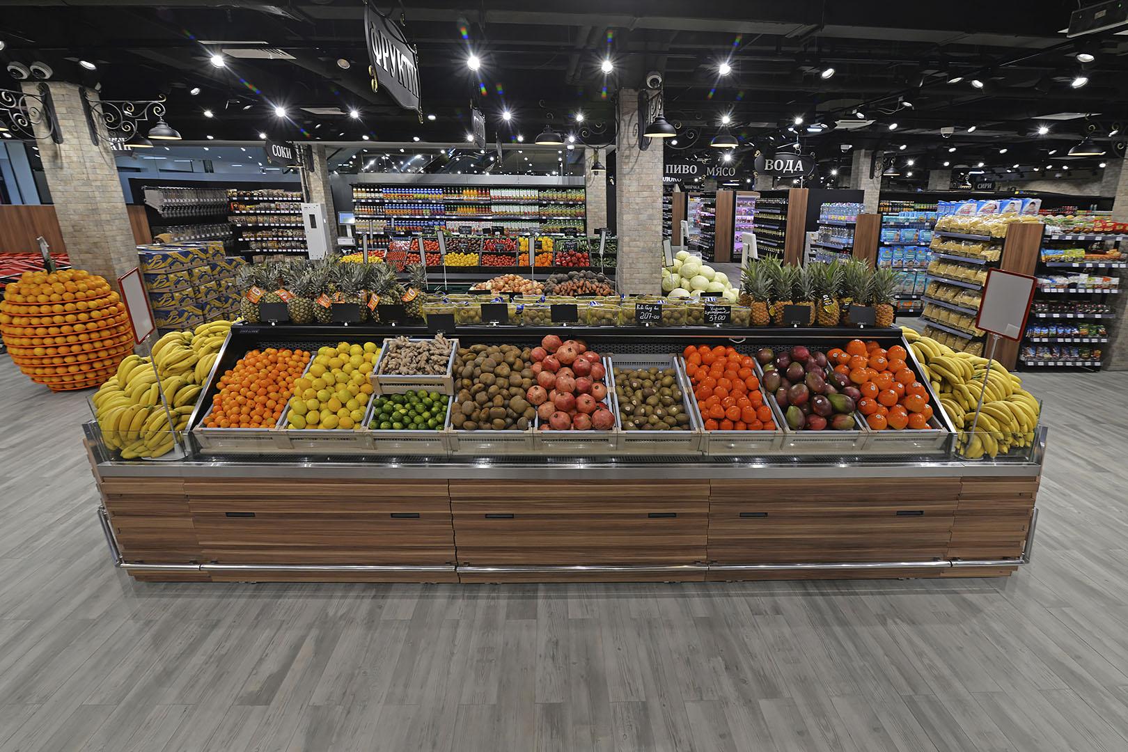 Специализированные витрины для продажи овощей и фруктов Missouri VF MC 090 VF self 125-DBM