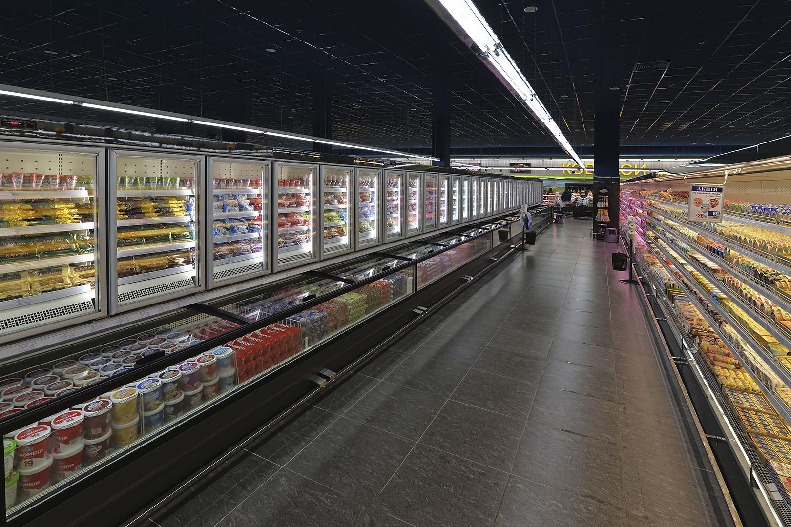 Frozen foods units Alaska combi 2 MD MHV 110 LT D/C 220-DLM, multideck cabinets Indiana MV 100 MT O 220-DLM