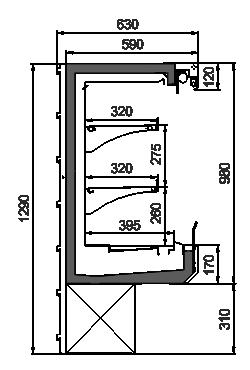 Холодильные шкафы Kansas АV 063 HMT D 129-D800A-125
