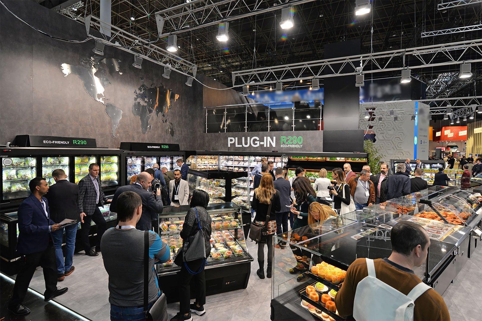 Стенд компанії Хітлайн на виставці EuroShop 2020