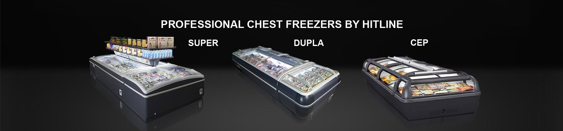 professional chest freezers by Hitline