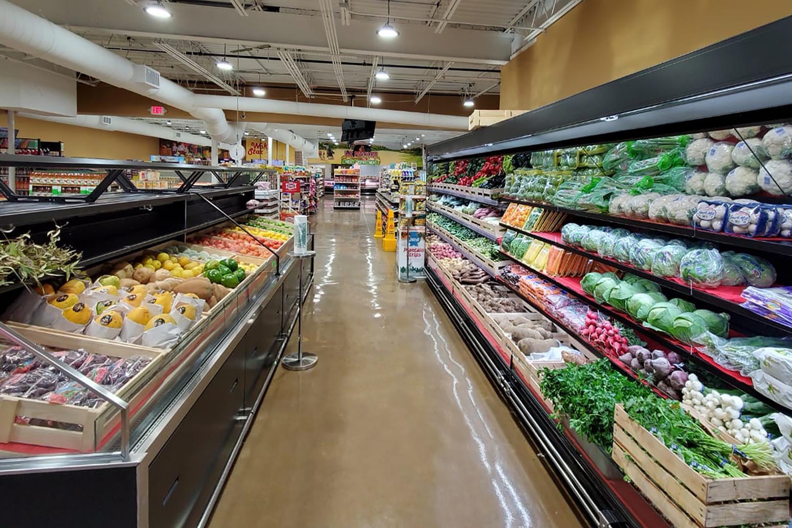 Спеціалізовані вітрини для продажу овочів та фруктів Missouri VF MC 110 VF self 125-DBM, Louisiana FV MV 095 VF О 210-DLM