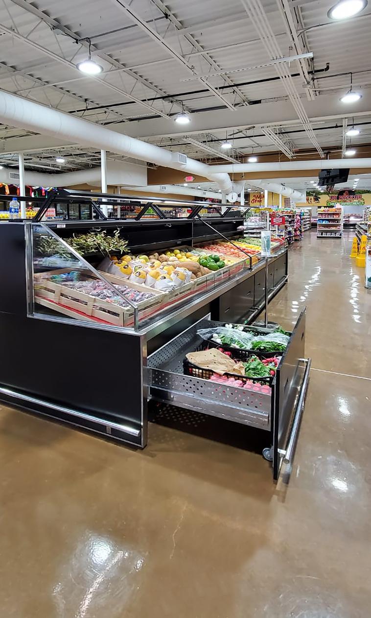 Специализированные витрины для продажи овощей и фруктов Missouri VF MC 110 VF self 140-DBM
