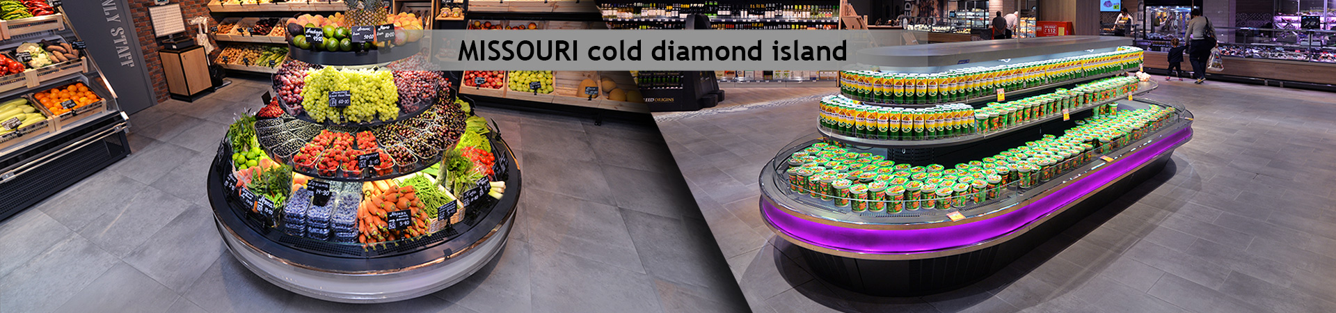 Витрины Missouri cold diamond island