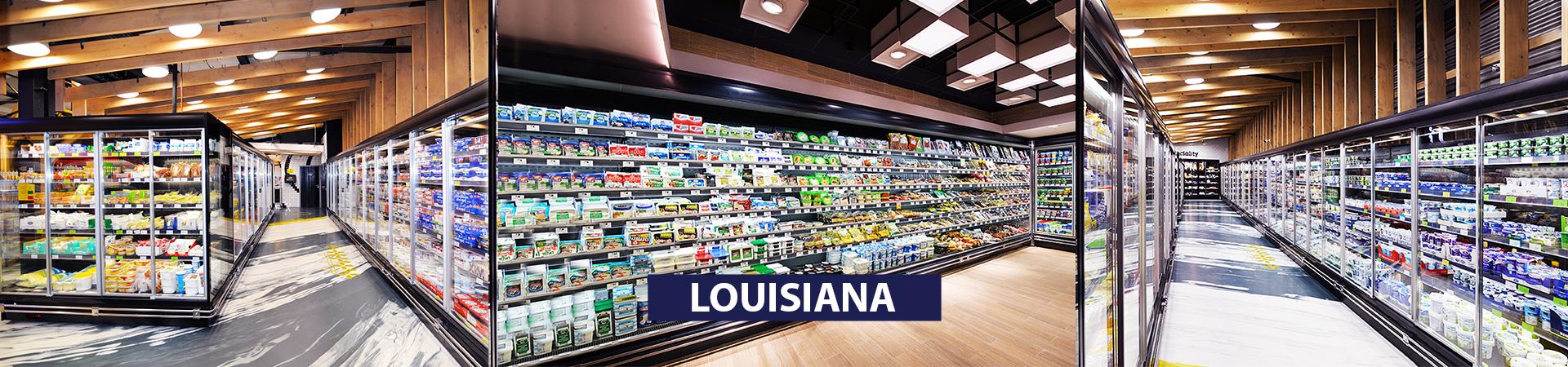 Пристенные витрины Louisiana