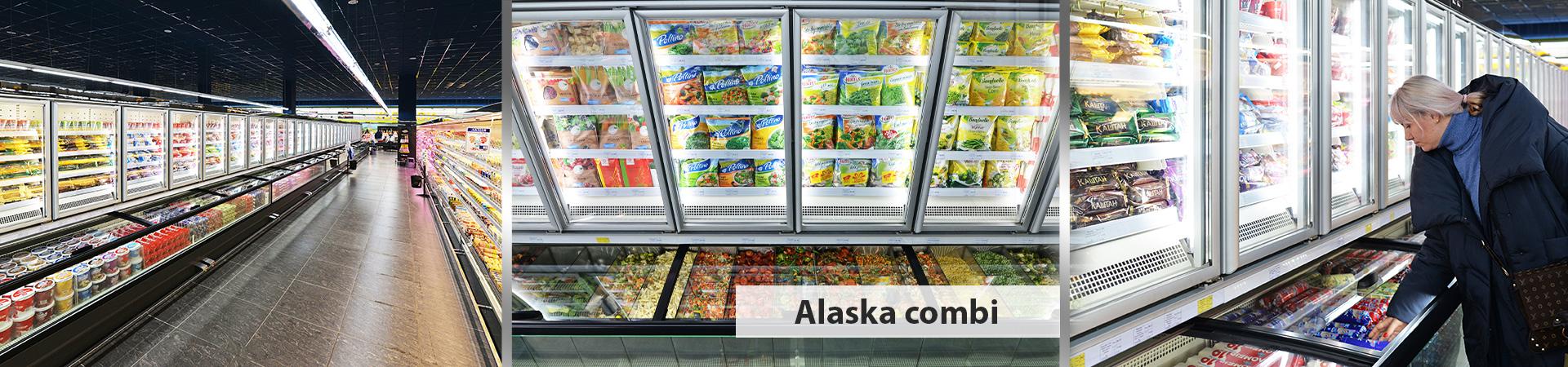 Вітрини для заморожених продуктів Alaska combi