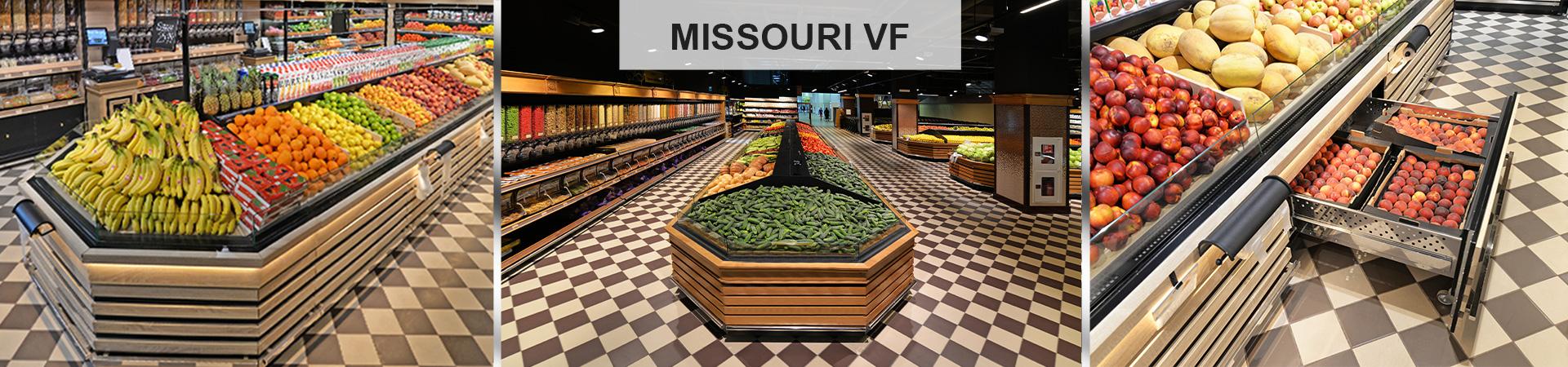 Специализированные витрины для продажи овощей и фруктов Missouri VF