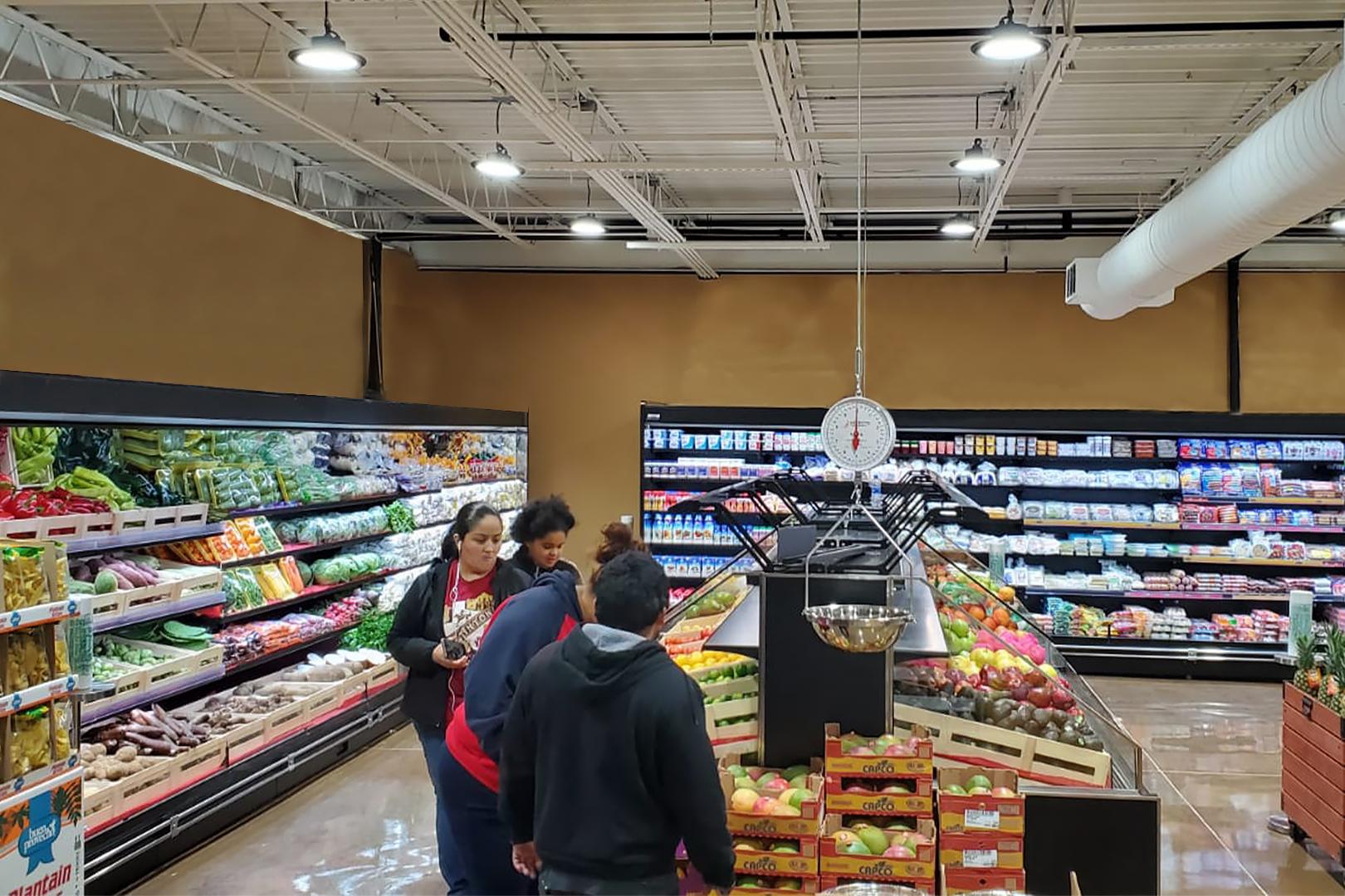 Специализированные витрины для продажи овощей и фруктов Missouri VF MC 110 VF self 125-DBM, Louisiana FV MV 095 VF О 210-DLM, пристенные витрины Louisiana MV 095 MT О 210-DLM