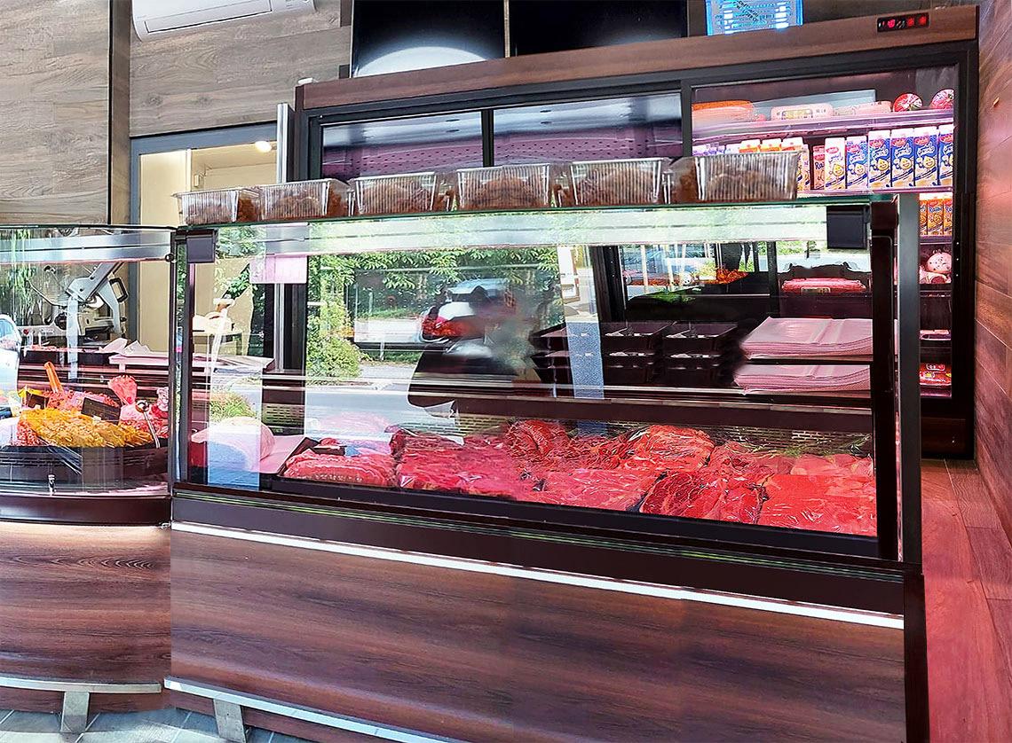 Витрина Missouri MC 120 accent PS 130-DBM, Missouri MC 120 deli PS 130-DBM, специализированная витрина для продажи мяса Indiana MV 080 meat D 205-DLM