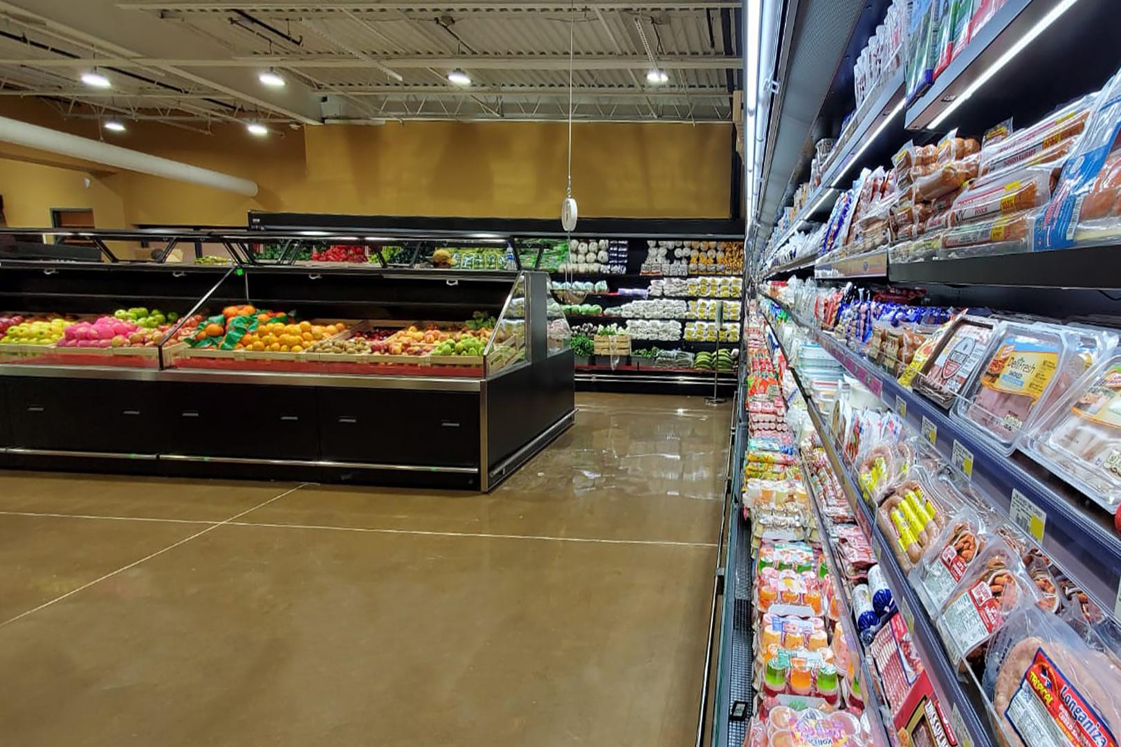 Спеціалізовані вітрини для продажу овочів та фруктів Missouri VF MC 110 VF self 125-DBM, Louisiana FV MV 095 VF О 210-DLM, пристінні вітрини Louisiana MV 095 MT О 210-DLM