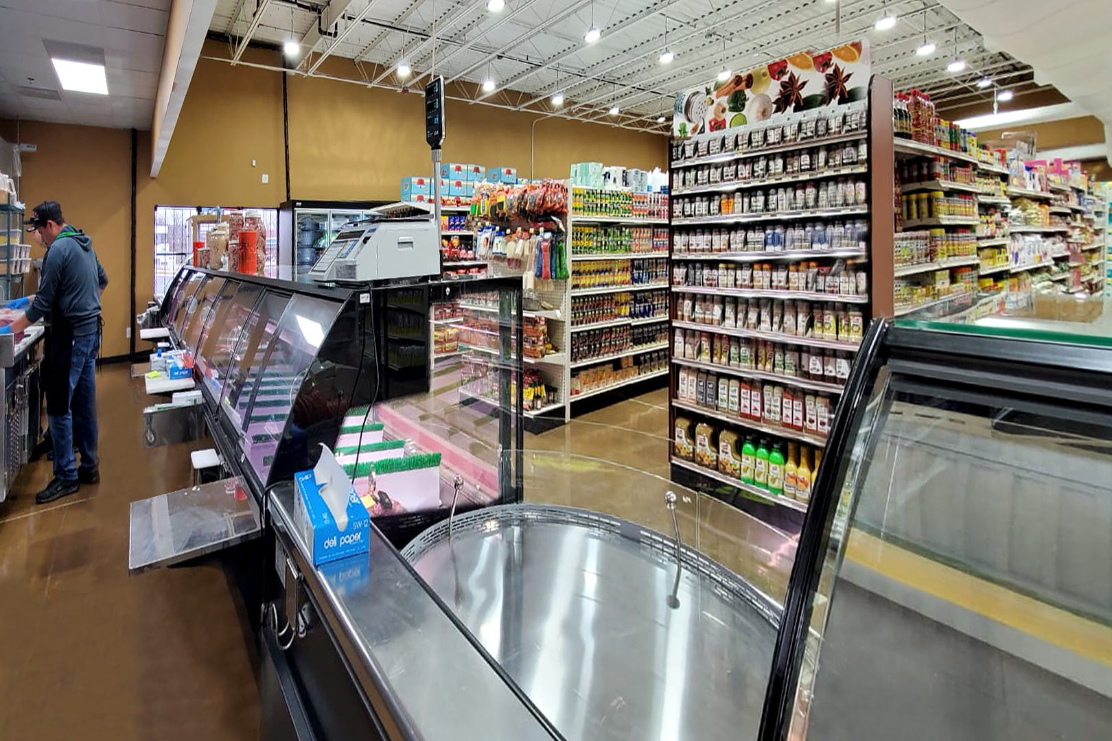 Специализированные витрины для продажи мяса Missouri MC 120 meat PS 130-SLM, промо-витрина Missouri MC 120 accent self 086-DBM
