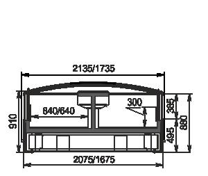 Frozen foods units Yukon cube AH 160/200 LT C 088-SLA