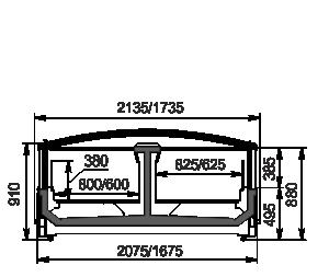 Витрины для замороженных продуктов Yukon cube MH 160/200 LT C 088-DLM