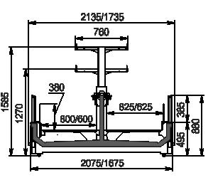 Витрины для замороженных продуктов Yukon cube MH 160/200 LT O 088-DLM с суперструктурой