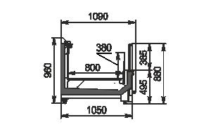Витрины для замороженных продуктов Yukon cube MH 160/200 LT O 088-DLM торцевой модуль без крышки