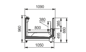 Вітрини для заморожених продуктів Yukon cube MH 160/200 LT О 088-DLM TL - торцевий модуль без кришки