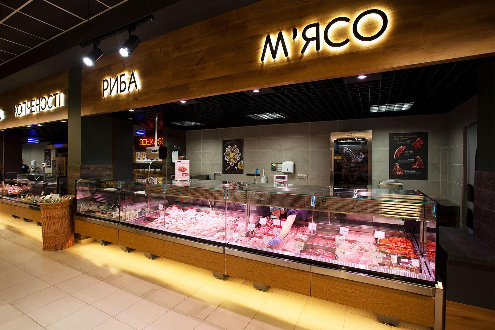 Спеціалізовані вітрини для продажу м'яса Missouri enigma MC 125 meat OS 120-SLM
