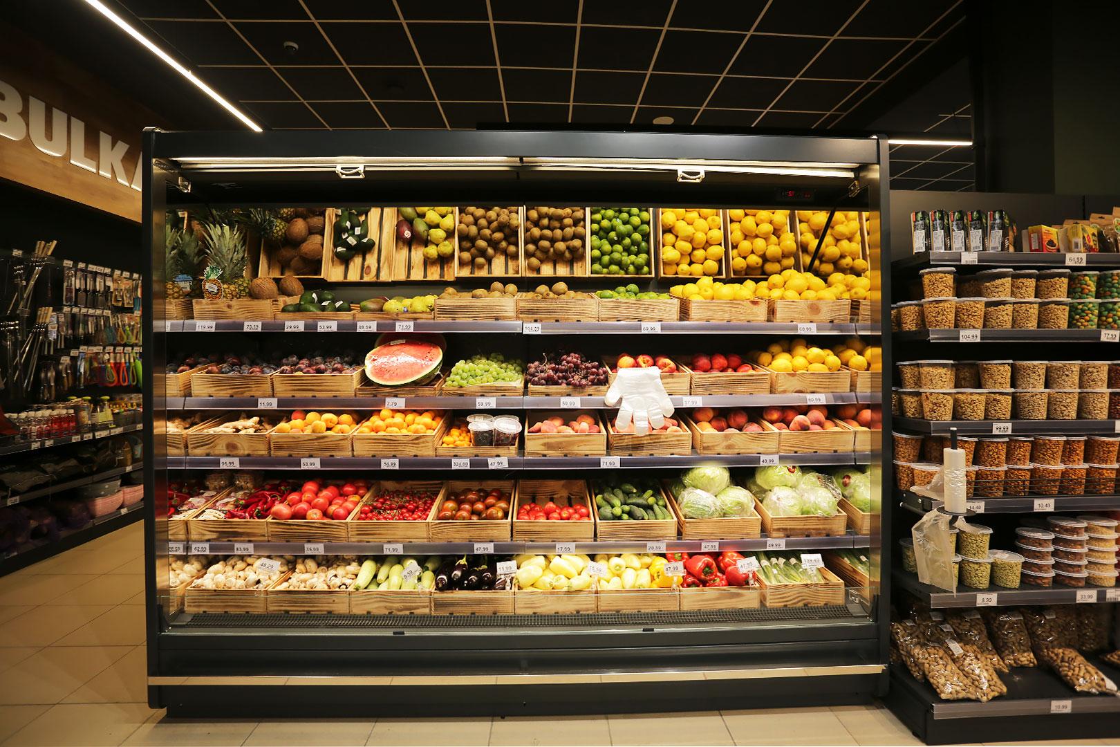 Спеціалізовані вітрини для продажу овочів та фруктів Indiana MV 080 FV O 205-DLM