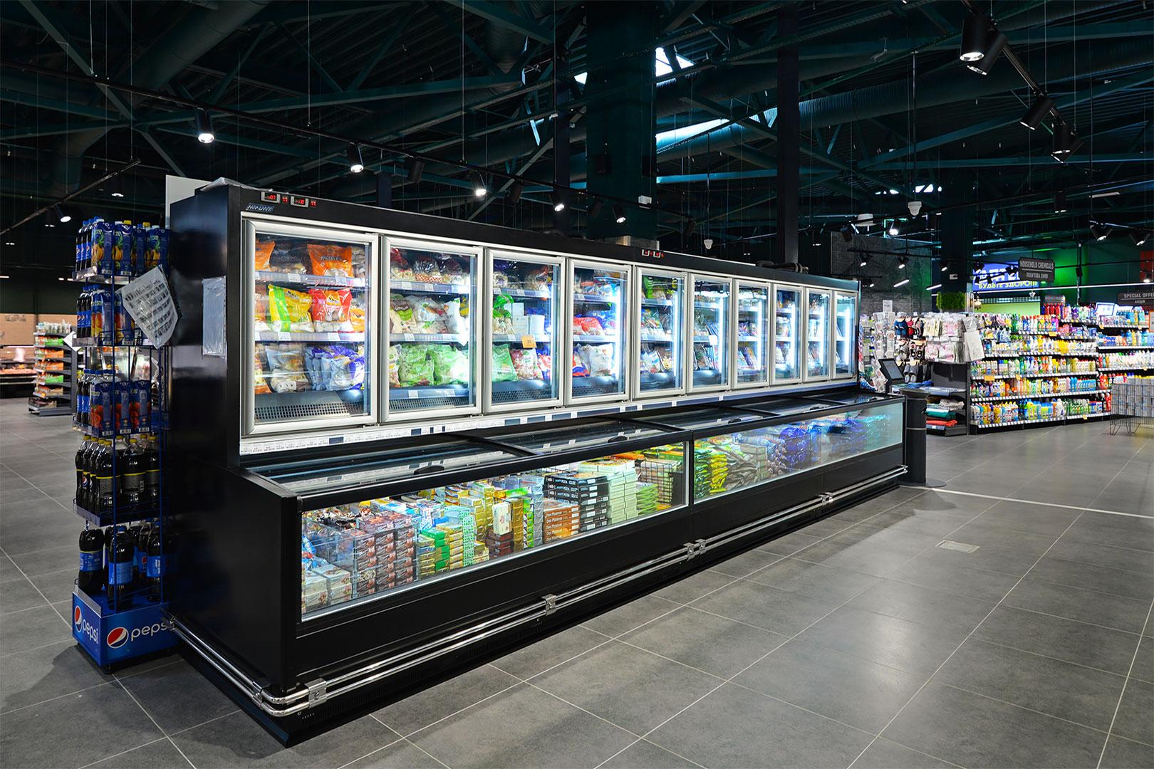 Витрины для замороженных продуктов Alaska combi 2 MD MHV 110 LT D/C 200-DLM
