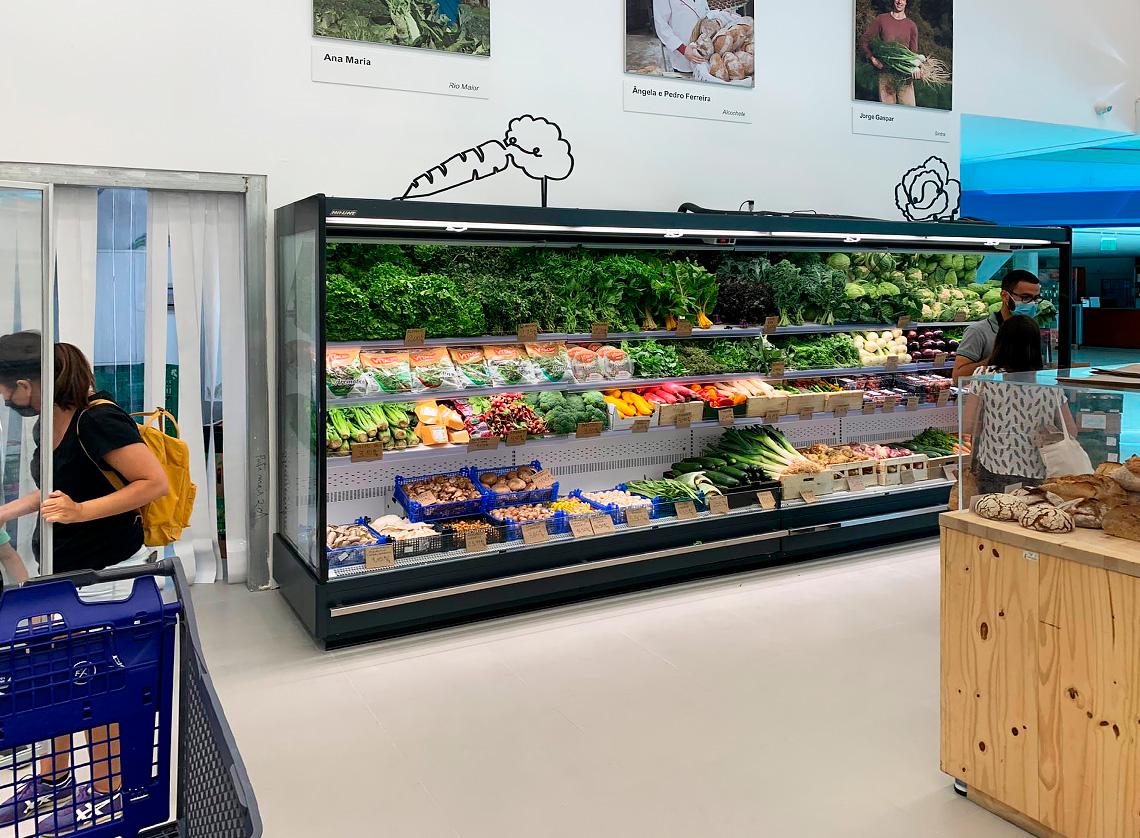 Спеціалізовані вітрини для продажу овочів та фруктів Indiana MV 090 FV O 205-DLM