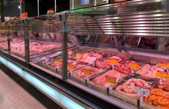 Спеціалізовані вітрини для продажу м'яса Missouri cold diamond MC 115 meat PS 121-SLM
