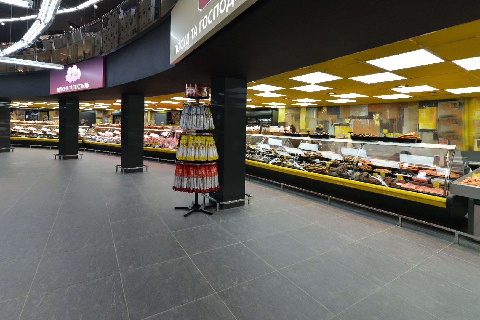 """Symphony MG 120 deli PS 125-DBM counters in """"Rost"""" supermarket"""