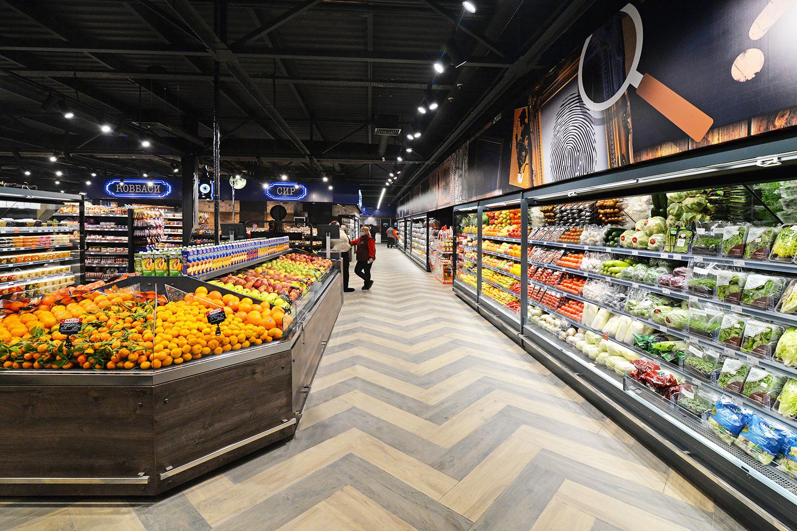Специализированные витрины для продажи овощей и фруктов Missouri VF MC 110 VF self 110-DBM, Indiana MV 080 FV O 205-DLM