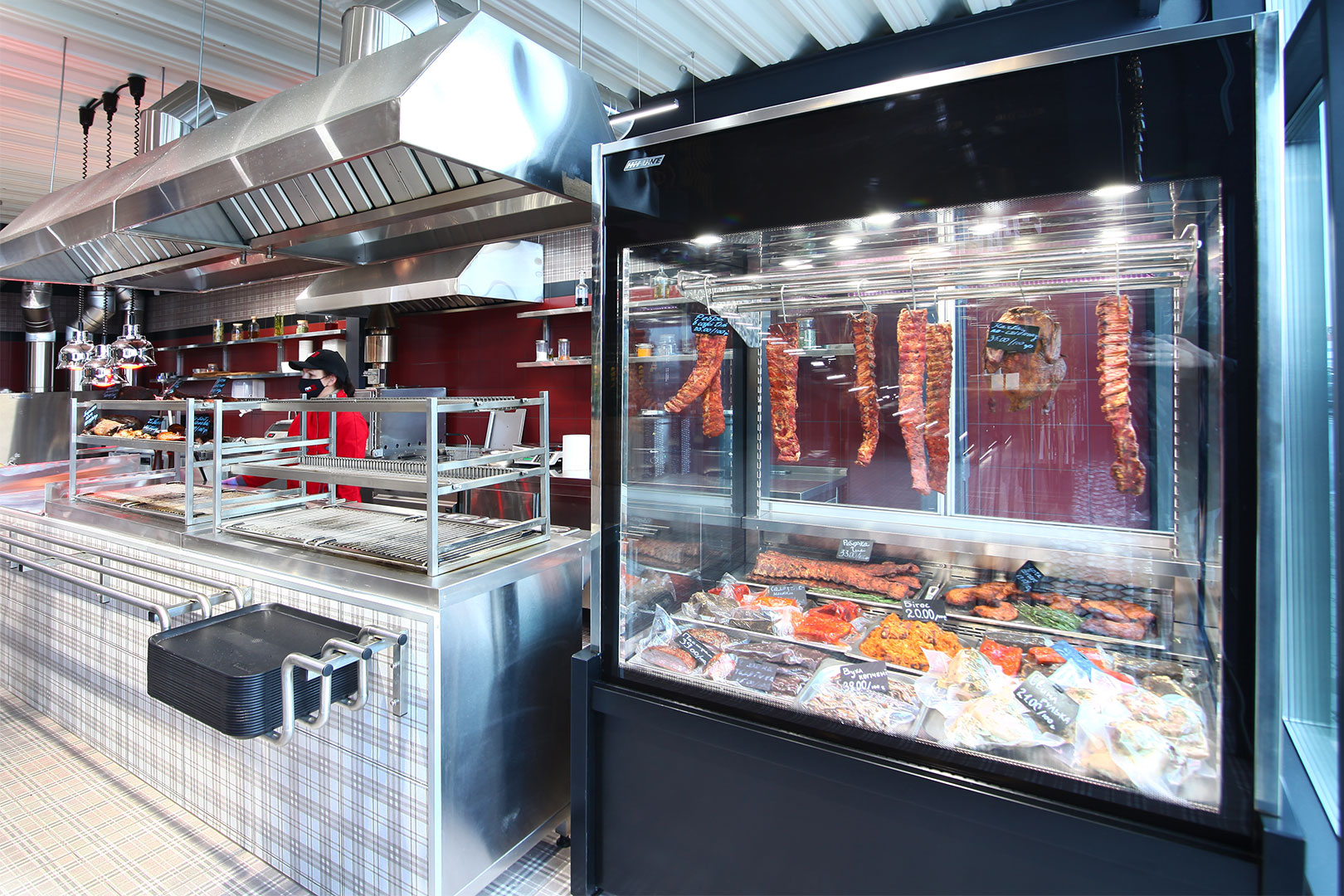 Специализированная витрина для продажи мяса Missouri MC 120 crystal S 203-DLA