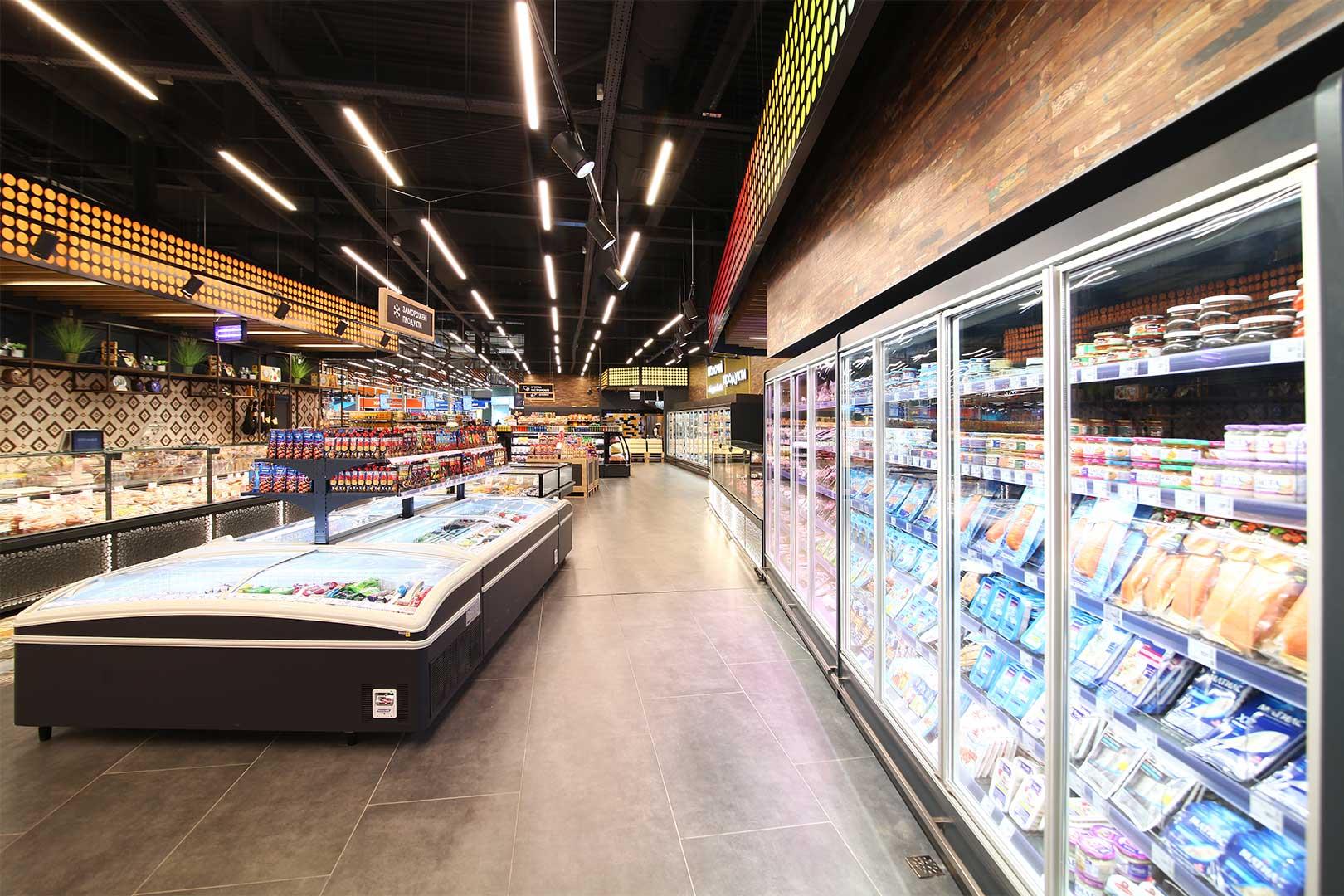 Multideck cabinets Indiana MV 080 MT D 205-DLM, frozen foods units Super AH 092 LT C 079-SLA