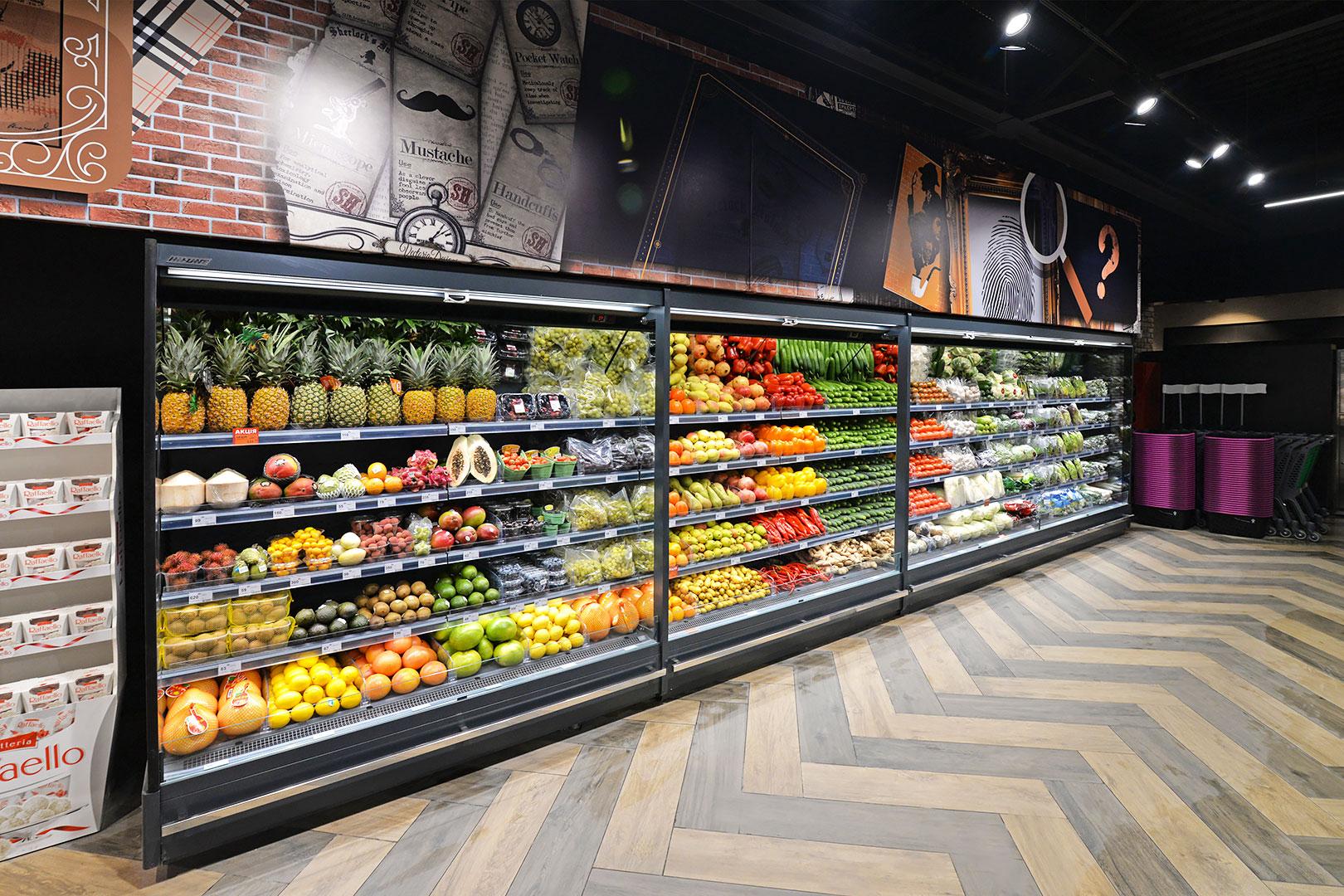 Спеціалізовані вітрини для продажу овочів і фруктів Indiana MV 080 FV O 205-DLM