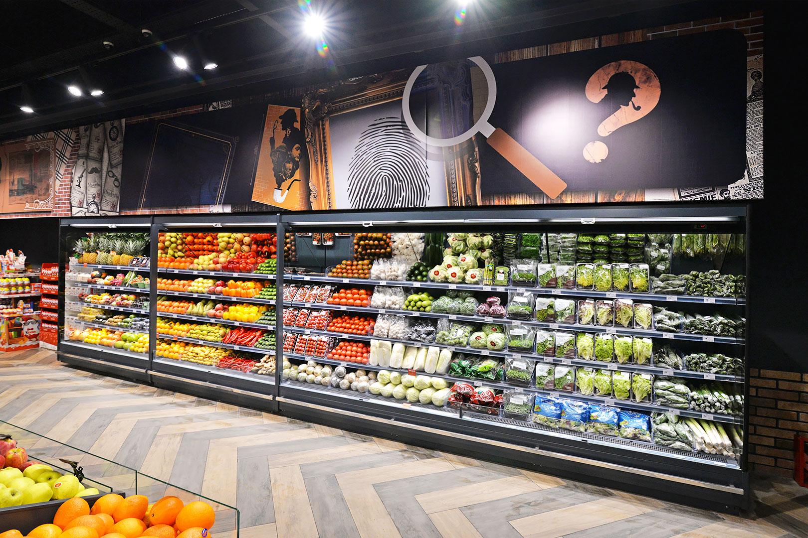 Специализированные витрины для продажи овощей и фруктов Indiana MV 080 FV O 205-DLM