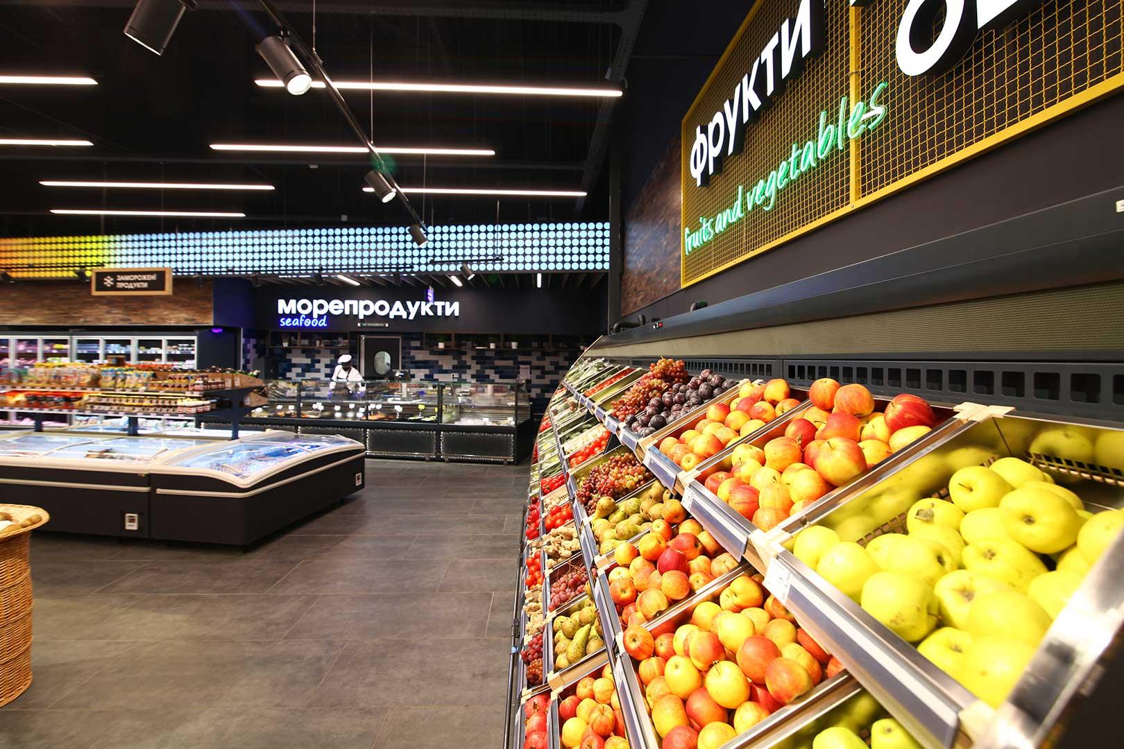 Специализированные витрины для продажи овощей и фруктов Louisiana VF MV 110 VF O 180-DLM