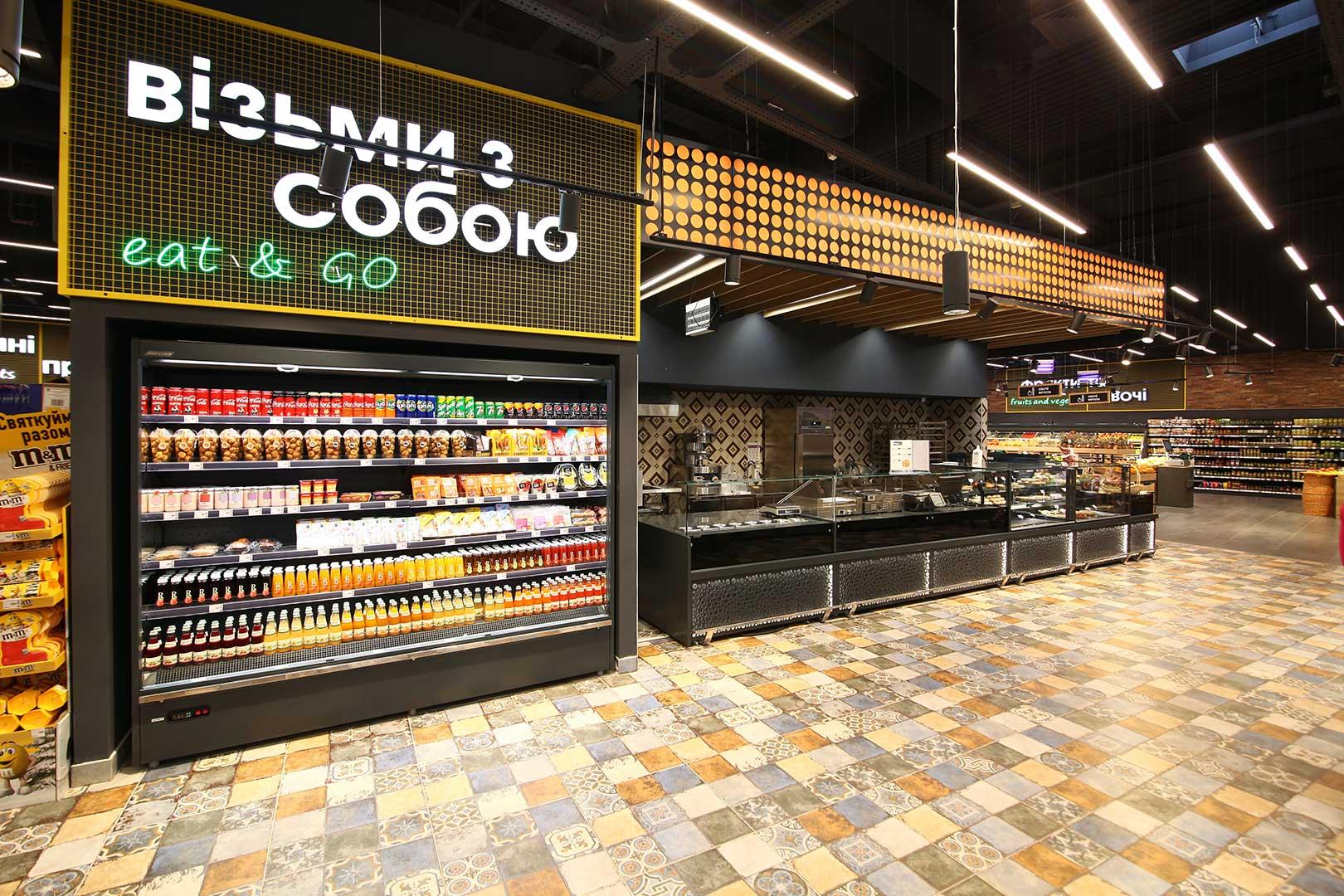 Multideck cabinets Indiana medium AV 066 MT O 210-DLA, counters Missouri MC 120 sushi/pizza L 130-DBM, Missouri NC 120 L 130