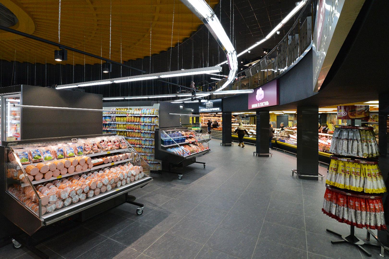 """Промоціональні вітрини Missouri promo MC 100 deli self 140-DLA в супермаркете """"Рост"""""""