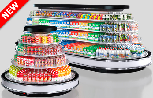 Refrigeratedsemi-vertical cabinet Missouri cold diamond island 087 deli LF 150-DLM