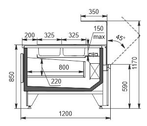 Refrigerated counters Missouri MC 120 salads OS 120-DBM