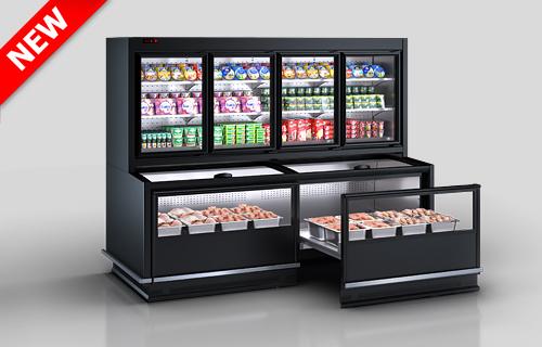 Холодильные комбинированные витрины Alaska combi MHV 110 MT D/C