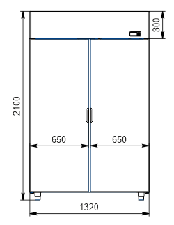 Refrigerated cabinets Kansas VAZG 066/076/086 HT 2HD 210-D1100/D1300/D1500A-132