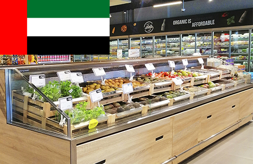 UAE organic foods in Hitline refrigeration units