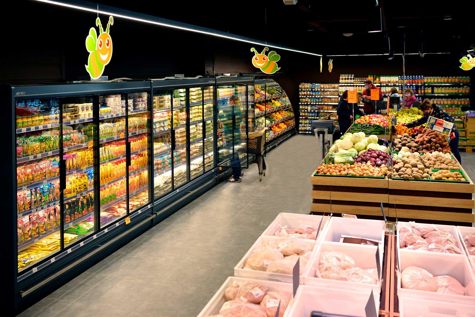 Холодильні пристінні вітрини Indiana MV 080 MT D 205-DLM
