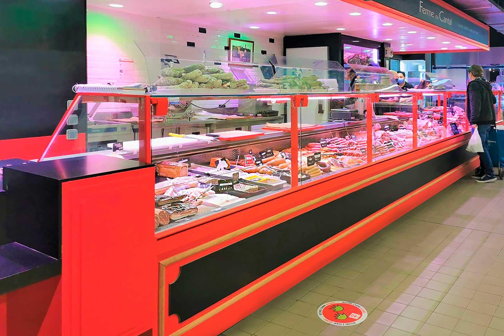 Refrigerated counters Missouri MC 120 M, minimarket LA FERME DU CANTAL in France